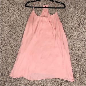 Lucy Love soft pink racer back dress